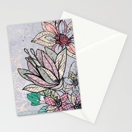 Paper Flowers #3 Stationery Cards