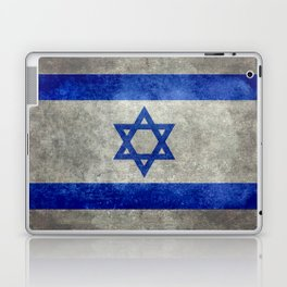 Flag of the State of Israel - Distressed worn patina Laptop & iPad Skin