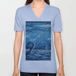 A stone monster almost catched ... Unisex V-Neck