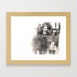 Graveyard Double Exposure Framed Art Print