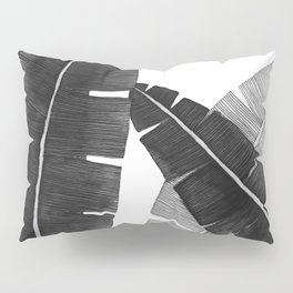 Banana Leaves BW Pillow Sham