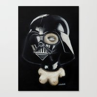 boob Canvas Prints featuring Boob Vader by Nataliette
