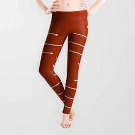 Terracotta geometric pattern Leggings