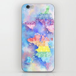 world map floral collage 2 iPhone Skin