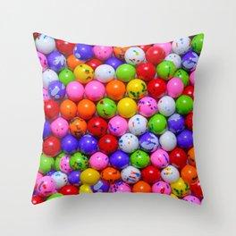 Jawbreaker Real Candy Pattern Throw Pillow