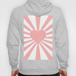 Pink Coral Valentine Love Heart Explosion Hoody