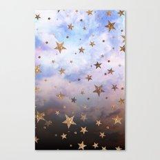 Cloudy Stars Canvas Print