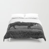 bull Duvet Covers featuring Bull by vogel