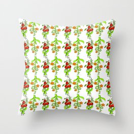 bright trees and fruits Throw Pillow