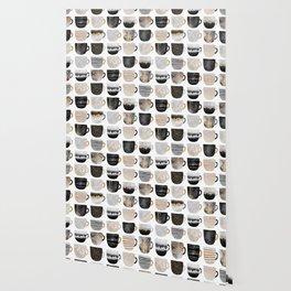 Pretty Coffe Cups 3 - White Wallpaper