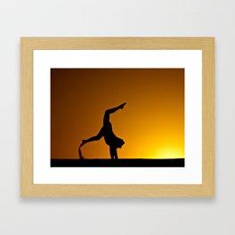 Desert Silouette Framed Art Print
