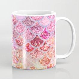 Rosegold & Gold Trendy Glitter Mermaid Scales Coffee Mug