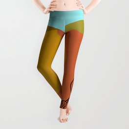 Dance in the Dunes with a Broom Leggings