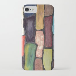 Colorful Abstract art turquoise, red green mix with gold dust iPhone Case