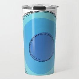 Blue Circle Travel Mug