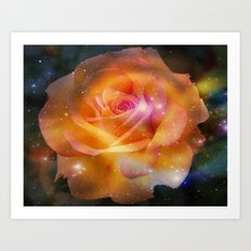 Stardust Rose Art Print