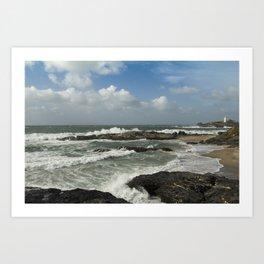 Stormy Cornwall Art Print