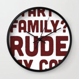 WHEN WILL I START A FAMILY Wall Clock