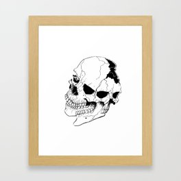 Skull #6 (Fragmented and Conjoined) Framed Art Print