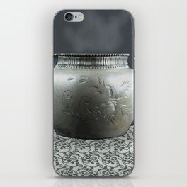 Pewter Cup on Tablecloth iPhone Skin