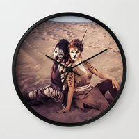 wild things Wall Clocks featuring Wild Things by diane555