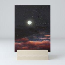 Dawn's moon Mini Art Print