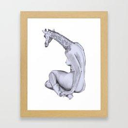 Big Booty Girl Framed Art Print