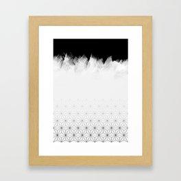 Christmas Geometric Pattern Framed Art Print