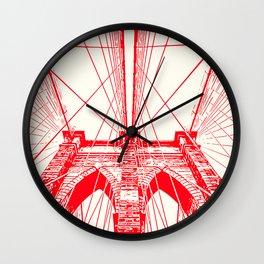 New York, Brooklyn Bridge Wall Clock