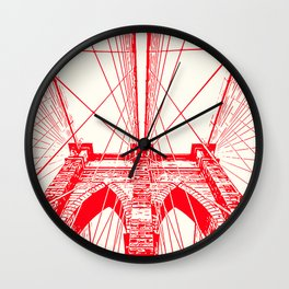New York, Brooklyn Bridge Wall Clock