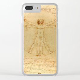 Leonardo da Vinci - Vitruvian Man Clear iPhone Case