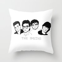 the smiths Throw Pillows featuring The Smiths by ☿ cactei ☿