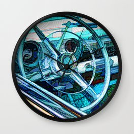 Old Car Wheel Wall Clock