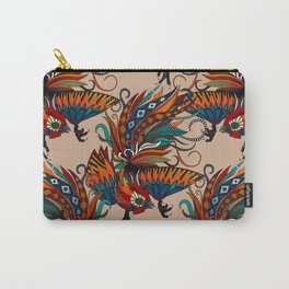 rooster ink beige Carry-All Pouch