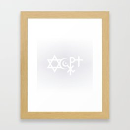 Accept Framed Art Print