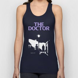 The Exorcist movie poster parody of Doctor Who 10th Unisex Tank Top