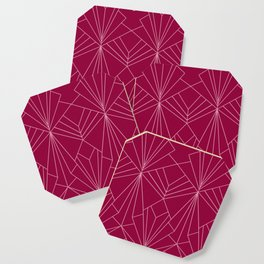Art Deco in Raspberry Pink - Large Scale Coaster