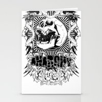 anarchy Stationery Cards featuring Anarchy scream by Tshirt-Factory