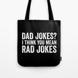 Dad Jokes I Think You Mean Rad Jokes Vintage Tote Bag