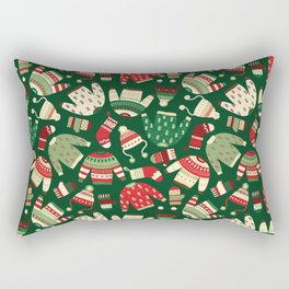 Ugly Christmas Fashion red green white Rectangular Pillow