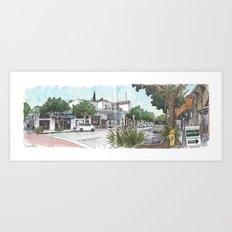 Second Street, Davis Art Print