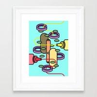 hot dog Framed Art Prints featuring Hot dog by Jan Luzar