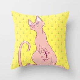 Cats with Tats Throw Pillow