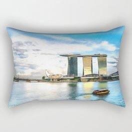 Hotel Marina Bay Sands and ArtScience Museum, Singapore Rectangular Pillow