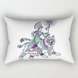 The Bear Rider Rectangular Pillow