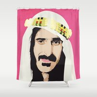 zappa Shower Curtains featuring ZAPPA! by f_e_l_i_x_x