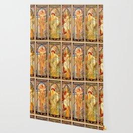 "Alphonse Mucha ""Times of day"" Wallpaper"