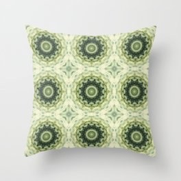 Ornament in Green gentle tones . Throw Pillow