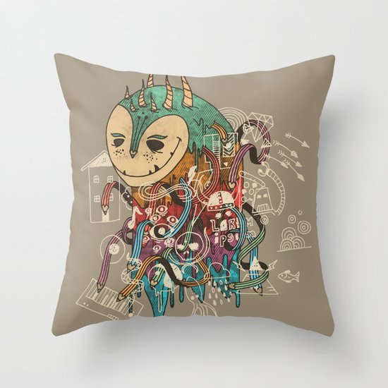 The Doodler Throw Pillow