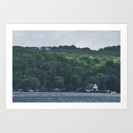 Portage Lake Art Print